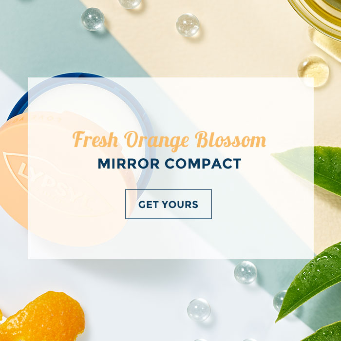 Fresh Orange Bloom Mirror compact